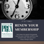 Renew your membership for 2019